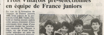 1988-03-16 - Slection equipe France Junior