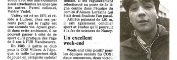 1990-11-30 - Valéry Vadel rgby dans le sang